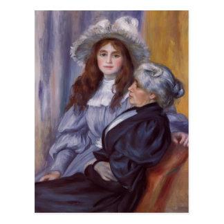 Pierre Renoir-Berthe Morisot &Her Daughter Julie Postcard