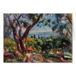 Pierre Renoir- Cagnes Landscape with Woman & Child Card