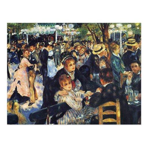 Pierre Renoir -  Dance at Le Moulin de la Galette Postcard