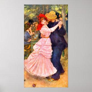 Pierre Renoir - Dance in Bougival Poster