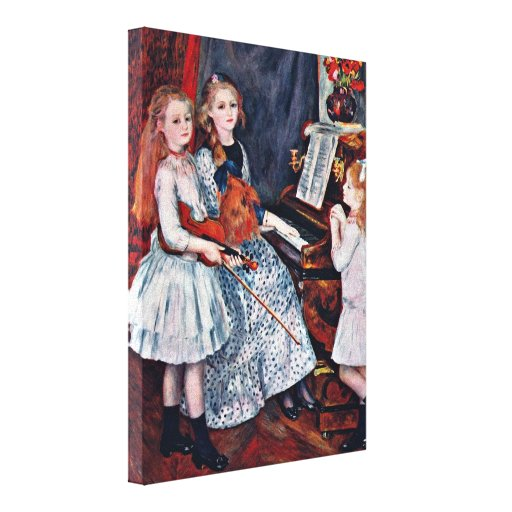 Pierre Renoir - Daughters of Catulle Mendes Stretched Canvas Prints