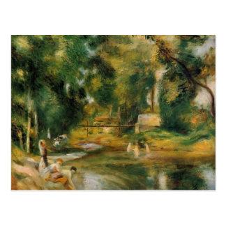 Pierre Renoir-Essoyes Landscape,Washerwoman,Bather Postcard