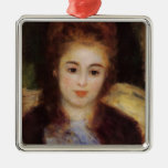 Pierre Renoir- Head of a Young Woman Christmas Ornament