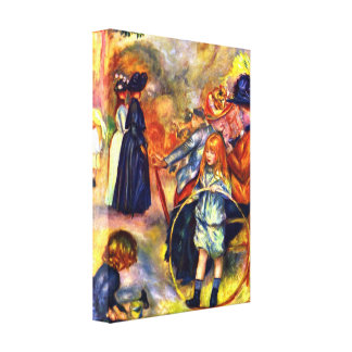 Pierre Renoir - In the Jardin du Luxembourg Gallery Wrapped Canvas