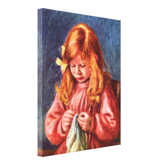Pierre Renoir - Jean Renoir sewing Canvas Print