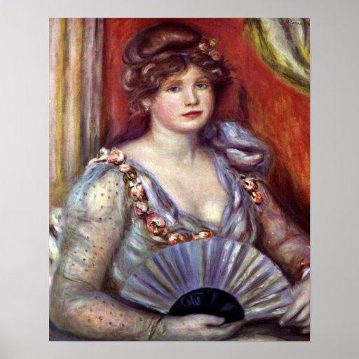 Pierre Renoir - Lady with fan Posters
