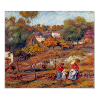 Pierre Renoir - Landscape at Cagnes Poster