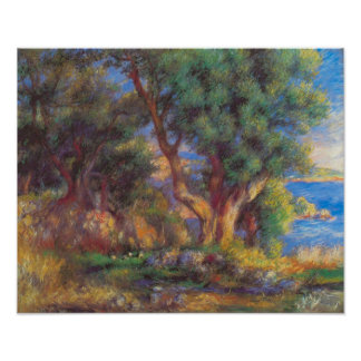 Pierre Renoir - Landscape in Menton Poster