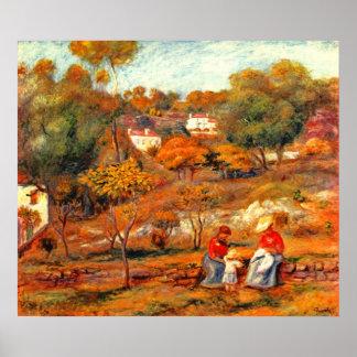 Pierre Renoir - Landscape with Cagnes Poster