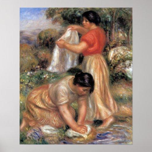 Pierre Renoir - Laundresses Poster