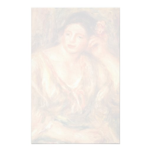 Pierre Renoir- Madeleine Leaning on Her Elbow Stationery Paper