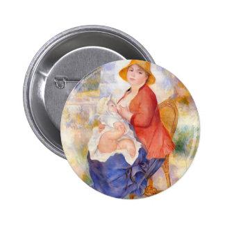 Pierre Renoir- Motherhood Pinback Buttons
