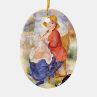 Pierre Renoir- Motherhood Christmas Tree Ornament