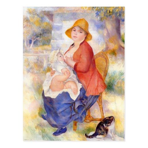 Pierre Renoir- Motherhood Postcards