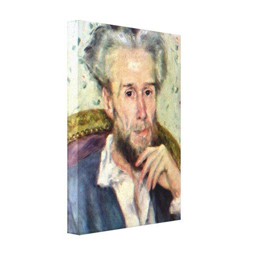 Pierre Renoir - Portait of Victor Chocquet Canvas Print