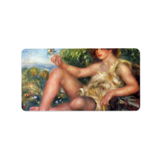 Pierre Renoir - Portrait of Alexandre Thurneyssen Custom Address Labels