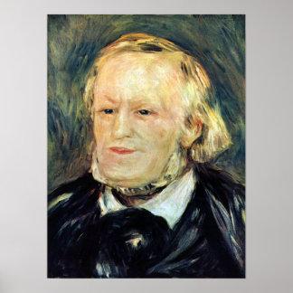 Pierre Renoir - Portrait of Richard Wagner Print