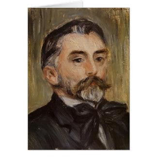 Pierre Renoir- Portrait of Stephane Mallarme Greeting Card