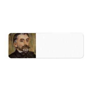 Pierre Renoir- Portrait of Stephane Mallarme Return Address Label