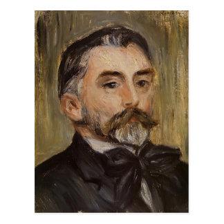 Pierre Renoir- Portrait of Stephane Mallarme Postcard