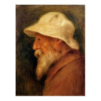 Pierre Renoir- Self-Portrait with a White Hat Post Cards