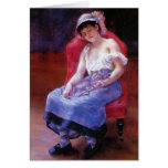 Pierre Renoir- Sleeping Girl (Girl with a Cat) Cards