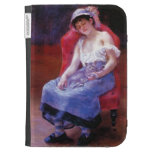 Pierre Renoir- Sleeping Girl (Girl with a Cat) Kindle Cases