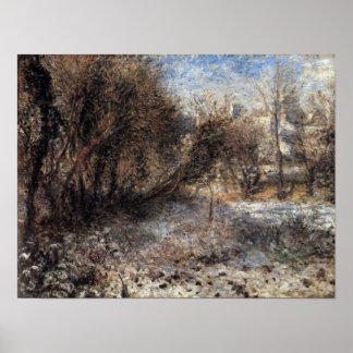Pierre Renoir - Snowy landscape Poster