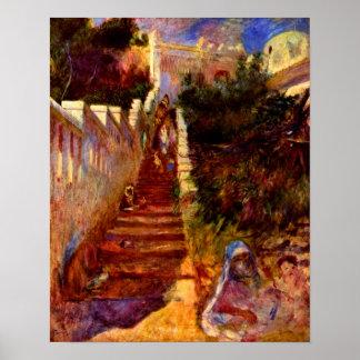 Pierre Renoir - Stairs in Algier Posters