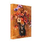 Pierre Renoir - Still life with anemones Gallery Wrap Canvas