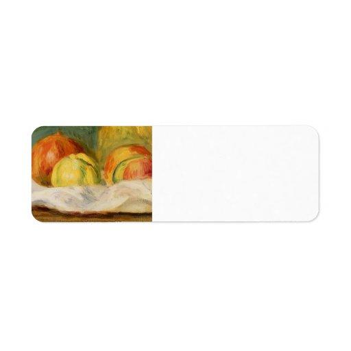 Pierre Renoir-Still Life with Apples &Pomegranates Labels