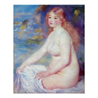 Pierre Renoir - The blond bather Poster