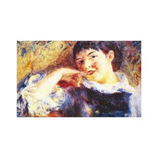 Pierre Renoir - The Dreamer Gallery Wrap Canvas