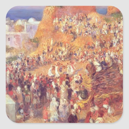 Pierre Renoir- The Mosque Arab Holiday Sticker
