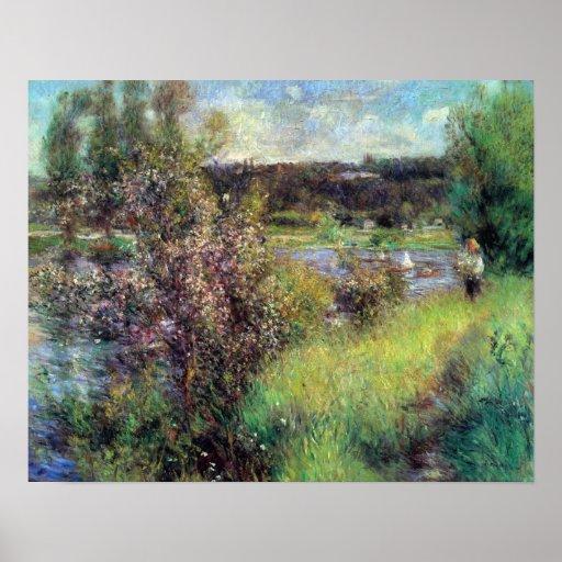 Pierre Renoir - The Seine at Chatou Posters
