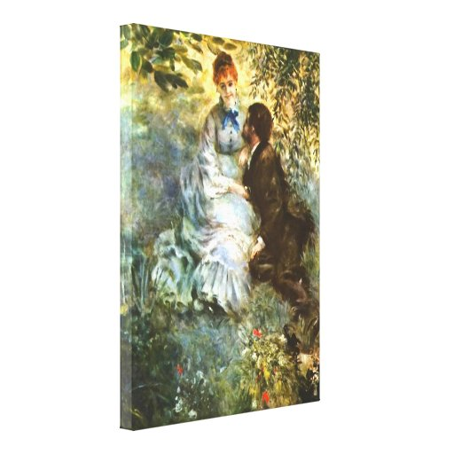 Pierre Renoir - Twosome Gallery Wrapped Canvas