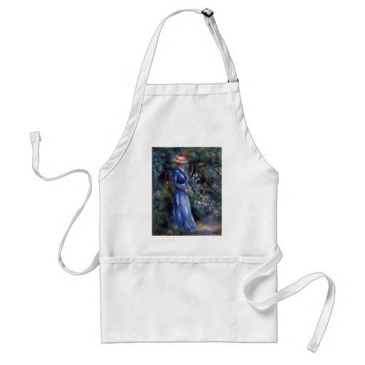 Pierre Renoir- Woman in a Blue Dress Apron