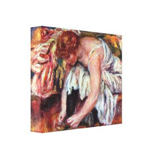Pierre Renoir - Woman Shoe Syndicate Canvas Prints