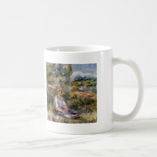 Pierre Renoir- Young Girl Seated in a Meadow Coffee Mug