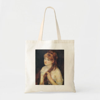 Pierre Renoir- Young Woman Braiding Her Hair Canvas Bags