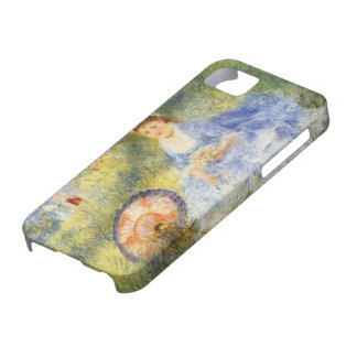 Pierre Renoir-Young Woman with a Japanese Umbrella iPhone 5 Covers