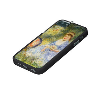 Pierre Renoir-Young Woman with a Japanese Umbrella iPhone 5/5S Cases