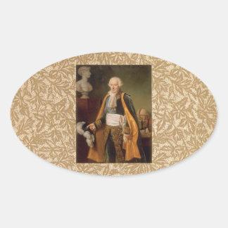 Pierre-Simon marquis de Laplace Oval Stickers