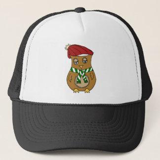 Pierre the Winter Owl Trucker Hat