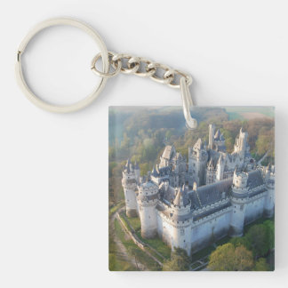 Pierrefonds Castle Double-Sided Square Acrylic Keychain