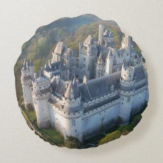Pierrefonds Castle Round Pillow