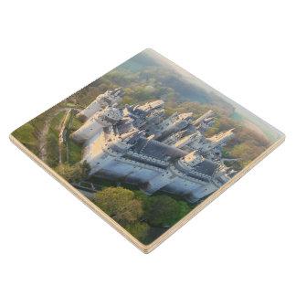 Pierrefonds Castle Maple Wood Coaster