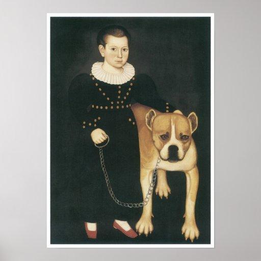Pierrepont Edward Lacey and His Dog, Gun, 1832 Poster