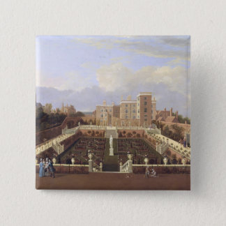 Pierrepont House, Nottingham, c.1708-13 (oil on ca Pinback Button