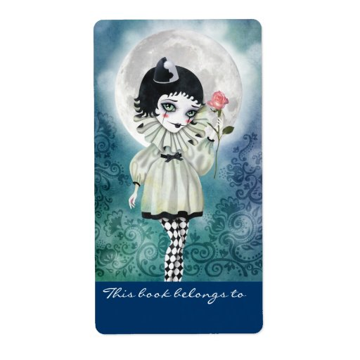 Pierrette Under the Icy Moon Bookplates Labels